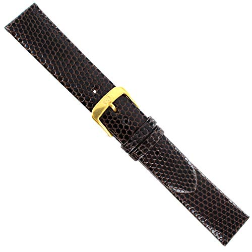 - 18mm Di Modell Brown Genuine Lizard Classic Handmade Unstitched Watch Band Reg