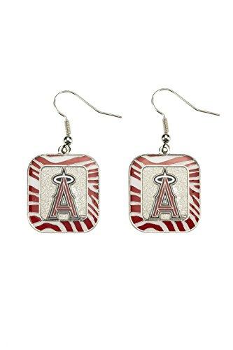 (MLB Los Angeles ANGELS Red Zebra Earrings)