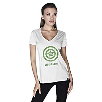 Creo Capital Saudi T-Shirt For Women - Xl, White