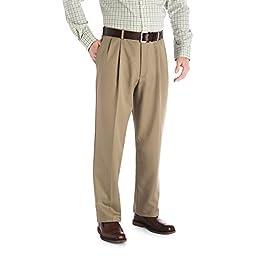 Haggar 41714529486 Mens Cool 18-R- Gab Casual Pant, British Khaki - 44-29