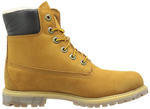 7 Wp Wheat Timberland Inch Boot Fleece Nubuck Us Premium 6 M Winter Lined Women's qwwPAY