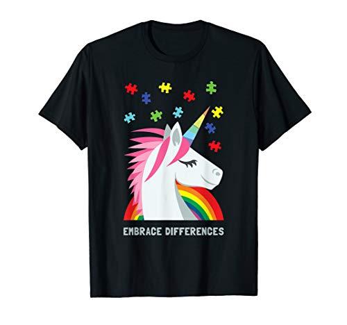 Autism Awareness Shirt Women Youth Men Unicorn Puzzle Piece