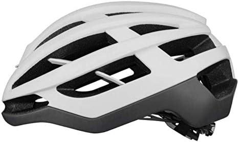 Ying-CC ヘルメット ヘルメット自転車サイクリング自転車ヘルメットサイクリングユニセックススーパーライトマウンテンバイクエアロヘルメット安全キャップ通気性のファッション磁気バックルホワイト55Cmx61Cm 自転車