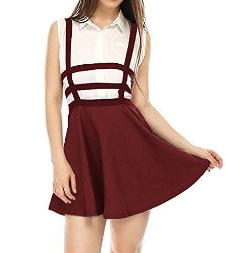 Jupe Bretelles JackenLOVE Mini Jupes Soire Ajoure Jupe t Vin Taille de de Rouge Fte Bandage Femmes Haute Mode Personnalit Plage xXrnZSX
