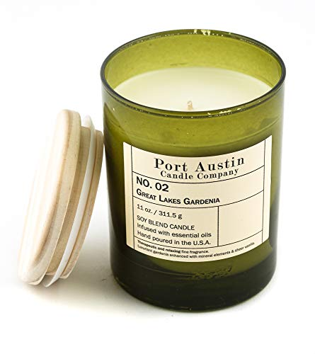 (Port Austin Candle Company Great Lakes Gardenia Scented Jar Candle :: 11 Oz, Soy Wax)