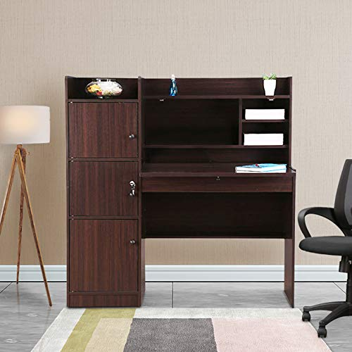 HomeTown Venus Engineered Wood Study Table in Walnut Colour Desks
