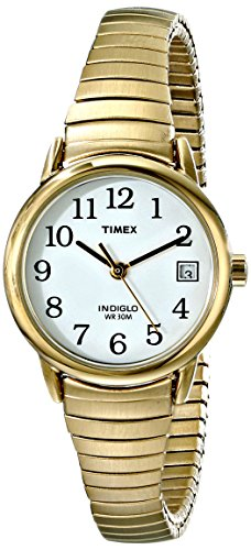 Tone Gold Wrist Ladies Watch - Timex Women's T2H351 Easy Reader Gold-Tone Stainless Steel Expansion Band Watch