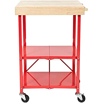 Amazon.Com: Origami Rbt-06 Foldable Kitchen Island Cart, Red: Home