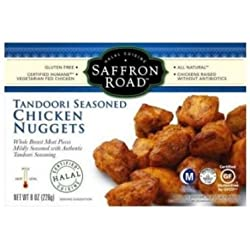 Saffron Road Tandoori Seasoned Chicken Nuggets, 8 Ounce -- 8 per case.