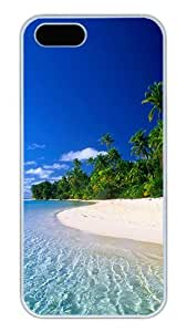 iPhone 5S Cases and Covers,A Random Beach In Thailand Custom Slim Hard Case Snap-on PC Plastic Case Cover Shell for Apple iPhone 5S/5 White