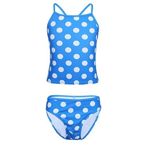 Blue Polka Dots Bikini Set in Australia - 4