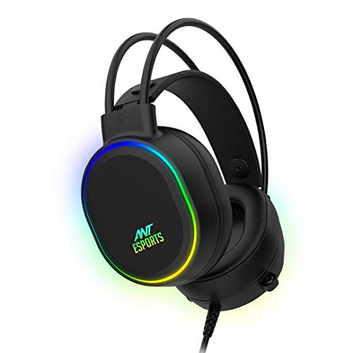 Ant Esports H1000 Pro RGB Gaming Headset for PC / PS4 / PS5 / Xbox One / Switch1 - Black