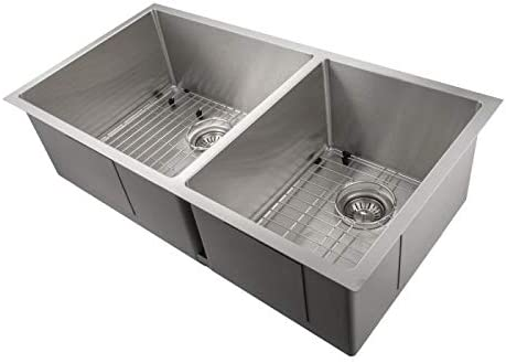 ZLINE Chamonix 36 Inch Undermount Double Bowl Sink in Stainless