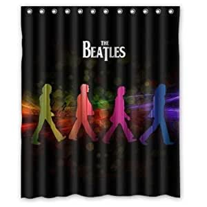 New Arrival Bath Curtain the Beatles 60inch by 72inch Polyester One Side Design Only