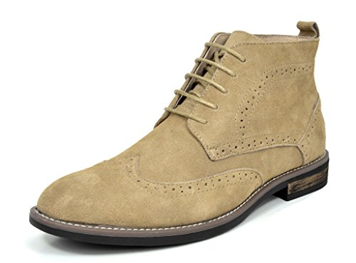 Bruno Marc Men's URBAN-02 Sand Suede Leather Lace Up Oxfords Desert Boots Size 15 M US
