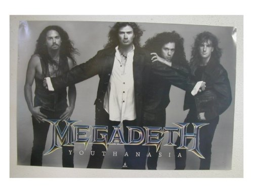 Megadeth Poster Band Shot Megadeath Youth An Asia Youthanasia
