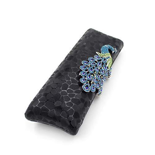 Diamante Pavo Del Mujeres Las Xoxo Cheongsam Negro Bolso color De Lentejuelas Elegante Cena Negro Coloridas La Real UXXY70qw