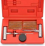 Kit universal de reparo de pneu 50002L da Tooluxe para consertar furos e furadeiras, pacote de 35 peças, ideal