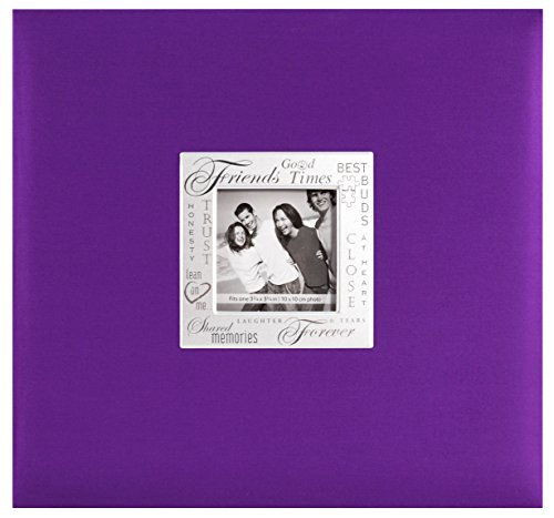 MBI 12x12 Inch Expressions Postbound Album, Friends, Purple (803517)