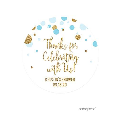 Andaz Press Light Blue Gold Glitter Boy  - Light Blue Collection Shopping Results