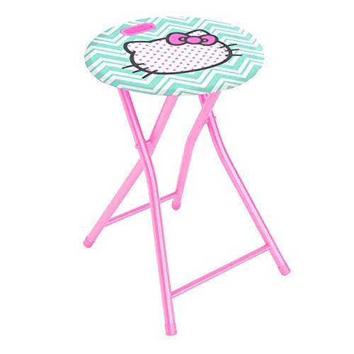DAR Living Hello Kitty Folding Stool w/Handle