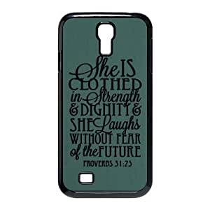 Bible Quote Proverbs 31:25 Samsung Galaxy Note3 Hard Plastic Case Cover -She is clothed in strength and dignity and she laughts without fear of the future