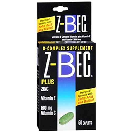 Z-Bec Smart Care B-Complex Supplement, Caplets, 60 ct Pack of 2
