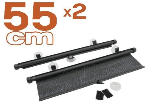 myshopx Sonnenschutz Sonnenrollo Sonnenschutzrollo Schwarz 2er-Set 55cm fü r Seitenscheibe