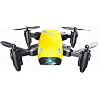 Zlimio Mini Pocket Drone 4-Axis Foldable S9 RC Quadcopter Pocket RemoteControl Helicopter Drone suit for Beginner