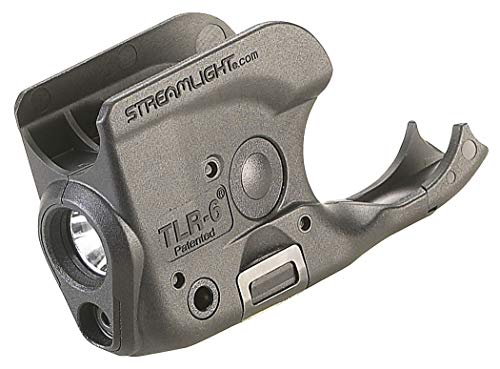 Streamlight 69279 TLR-6 Tactical Pistol Mount Flashlight 100 Lumen with Integrated Red Aiming Laser for Non-Rail 1911, Black