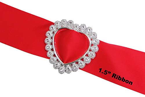 HipGirl Resin Ribbon Slider Buckles and Flat Back Pearl Cabochons for Wedding Invitations, Card Craft (40pc Heart Buckles for 1.5