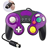 YAEYE Gamecube Controller for Super Smash Bros Ultimate,Turbo Function,No Lag/Driver,Compatible with Nintendo Switch/Wii U/Wii/PC,Classical Black Purple Wired(1.8M/0.55ft) Nintendo Switch Gamepad