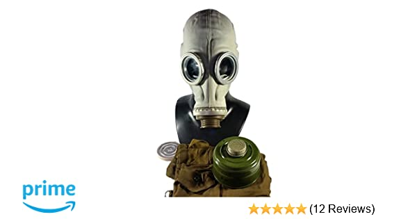 Size - 2 (Medium) Soviet Russian Military Gas mask GP-5. Grey rubber. Full set. SALE - - Amazon.com