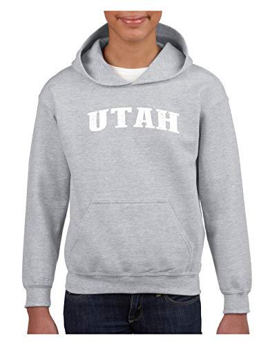 (Utah State Flag Salt Lake City Traveler`s Gift Unisex Hoodie for Girls and Boys (XSSG) Sport)