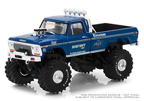 - DDK Greenlight 86097 Bigfoot #1 Monster Truck 1974 Ford F-250 DIECAST 1:43 Blue