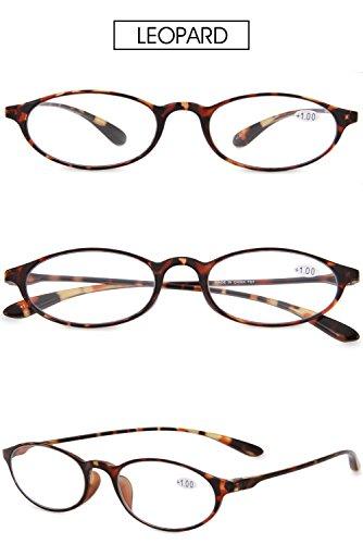 Pequeñas 4 5 3 VEVESMUNDO 1 Diseño 2 Gafas Graduadas 0 3 Presbicia 5 Para Vintage Leer Hombre Lectura Flexibles 0 de Mujer Gris 5 0 2 Gafas 1 Vista 4 Leopardo Lejos 0 Flores Rojo wvFnfHwxq