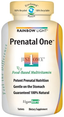 Rainbow Light Just Once Prenatal One Multivitamin, 150 tablets