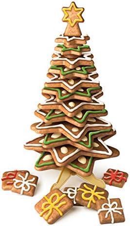 Albero Di Natale Con Biscotti A Stella.Tescoma Delicia Set Stampini Per Biscotti A Forma Di Alberi Di Natale Amazon It Casa E Cucina