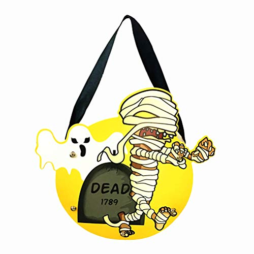 BESTOYARD 2PCS DIY Colorful Halloween Candy Bag Lovely Gift Bags Hallowmas Gift for Kids Party Supplies Decor(Mummy) -
