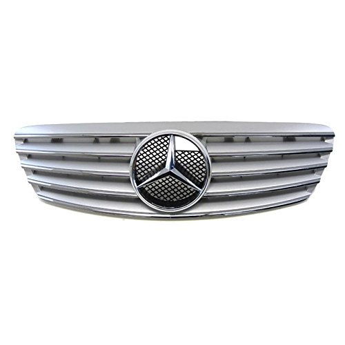 Front Oe Fit Silver Chrome Fin Grill Grille Cl Style For Mercedes Benz 99 02 W220 4Dr S Class Sedan Only
