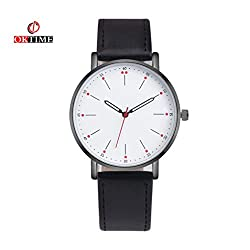 SINMA Casual Watches Men 's Water Resistant Analog Wristwatch Alloy Quartz Wrist Watch (Black)
