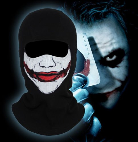 Smile Adventure Sports Clown Thriller Balaclava Scary Joker Halloween Cosplay Costume Full Face Mask