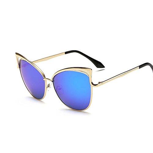 Rosado Gafas Retro Fiesta De Cat De Shopping Solespejo Senderismo Eye Sol De De Limotai Conducción Ocio Gafas Viaje Goldblue De Sol Goldpurple De Gafas wqdItc