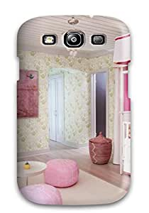 Nora K. Stoddard's Shop Christmas Gifts Galaxy S3 Well-designed Hard Case Cover Girl8217s Nursery With White Crib Shades Of Dark And Light Pink And Green Floral Walls Protector