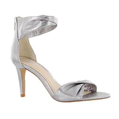 Vince Camuto Camden vestido sandalias Silver Metallic Nappa