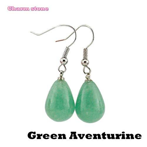 Hot Best Variety Crystal Water Trendy Fashion Earrings | Opal Women Jewelry (Green Aventurine)