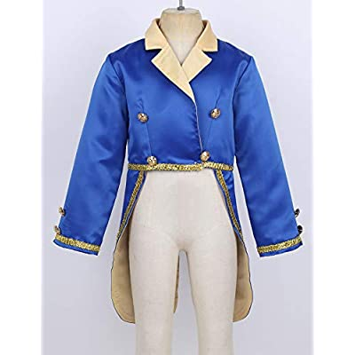 TiaoBug Child Boys Prince Costume Shirt Halloween Party Fantasy Cosplay Tuxedo Jacket Tailcoat Clothes Outfits: Clothing