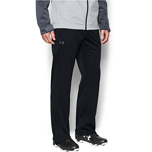 Under Armour Men's Storm Rain Pants, Black/Black, Large