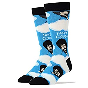 Oooh Yeah Socks Men's Luxury Combed Cotton Funny (happy clouds)