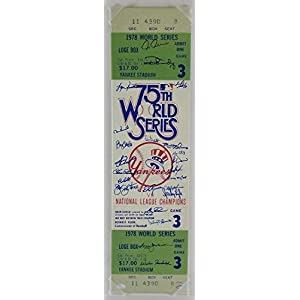 1978 Yankees Autographed Signedgraph Super World Series Ticket With JSA Authentic Memorabilia Jacksonguidry